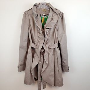 Anthropologie Idra Clinton ruffled trench coat (C1